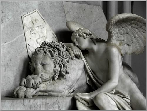 Der trauernde Loewe - The grieving lion
