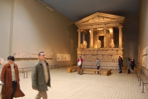Temple & statues from the Elgin Marbles at the British Museum