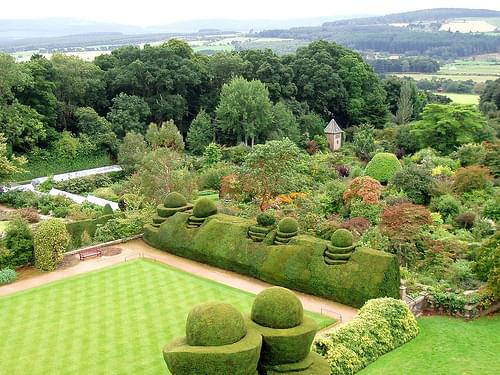 View of Garden, Crathes Castle
