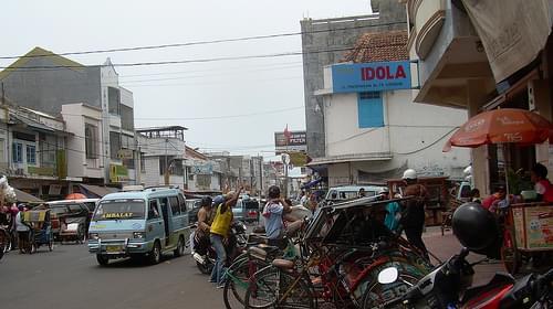 Downtown  Street in Cirebon