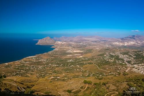 View from Erice, Trapani (Italy)