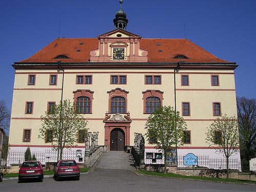 Schlüsselburg - Lnáře Municipality. Former Prachens province in the southwest of Bohemia.