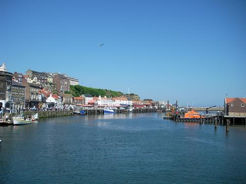 Whitby Harbour downriver from bridge
