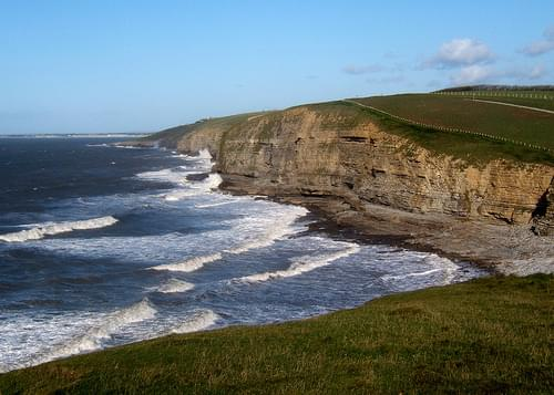 Looking west across Dunraven Bay