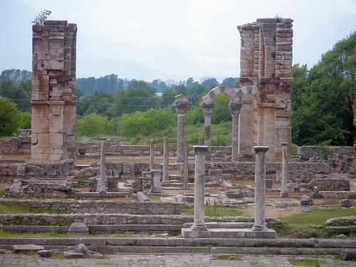 Ancient Filippi in Makedonia, Greece