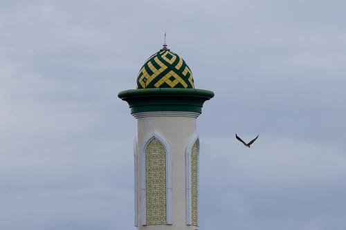grand mosque and white-bellied sea-eagle, Ternate, Indonesia, 2011-04-25 (2 of 2).jpg
