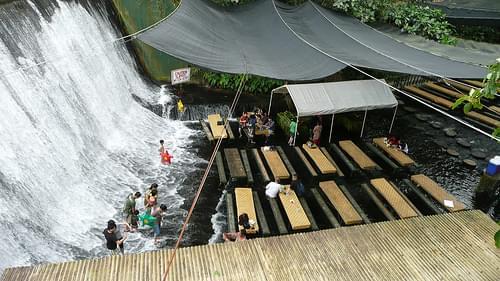 Waterfall restaurant at Villa Escudero
