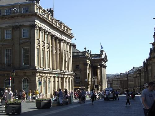 Classical buildings along Grey Street