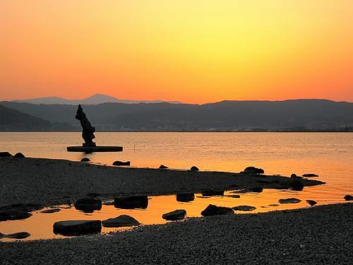 Lake Suwa, Suwa, Nagano, Japan