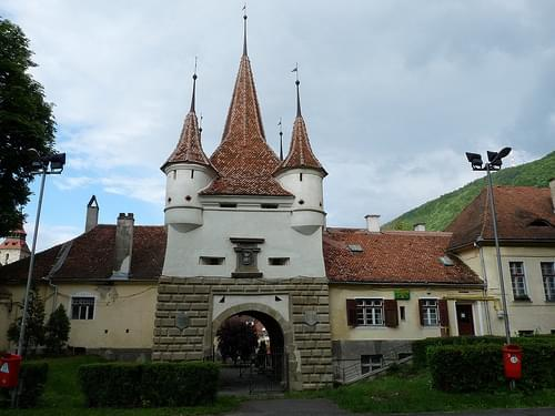 Fairytale city gate in Brasov