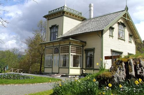 Troldhaugen the home of the musician and composer  Grieg in Bergen.