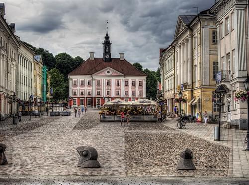 tartu Town Square, Estonia
