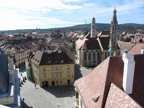 View of Sopron from Tűztorony (Firewatch Tower)