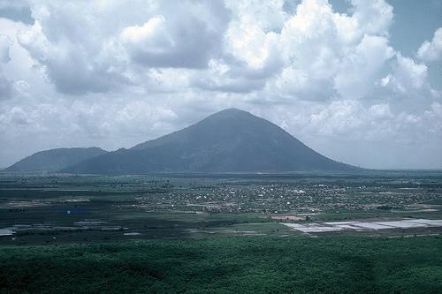 Núi Bà Đen (Black Virgin Mountain) & Tây Ninh Aerial 1967-68 - Photo by D Hillard