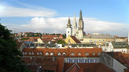 Upper Town - view of the lower town--Cathedral