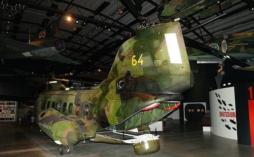 Boeing Vertol 107 II-2 Hkp 4B in Flygvapenmuseum Malmen