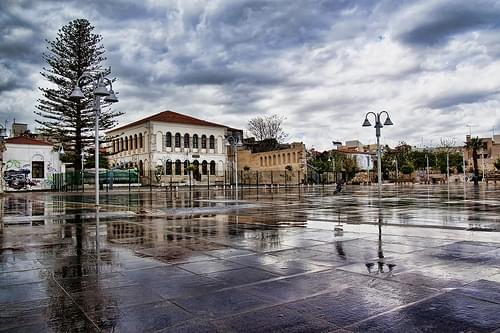 Rethymno, old town square