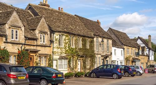 The High Street of Lacock in Wiltshire