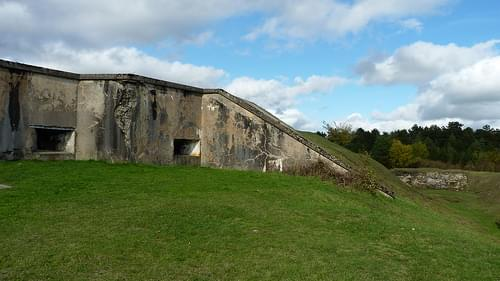 Verdun WWI Fort de Vaux exterior shell 75mm ports