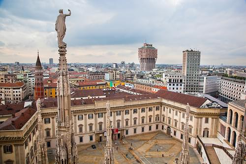 Milan sky view