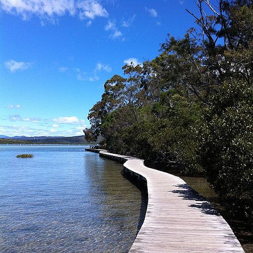 All quiet on the #Merimbula boardwalk.
