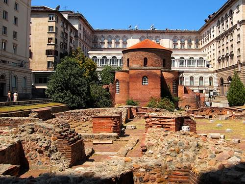 Ancient Roman Bathhouse and Church