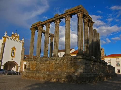The Roman Temple - Evora, Portugal