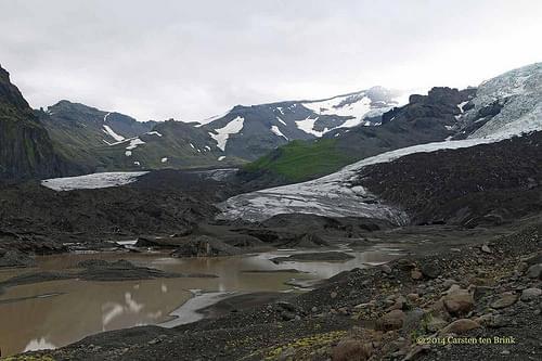 Vatnajokull glacier - in Skaftafell national park