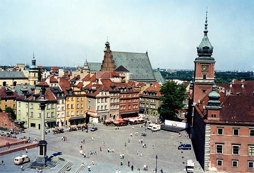 Historic Center of Warsaw, destroyed by the Nazis and rebuilt after World War II