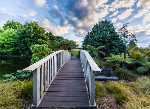 Bridge, Auckland Botanic Garden