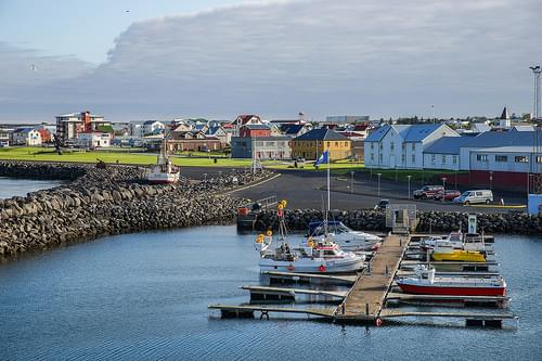 Keflavik harbour and downtown