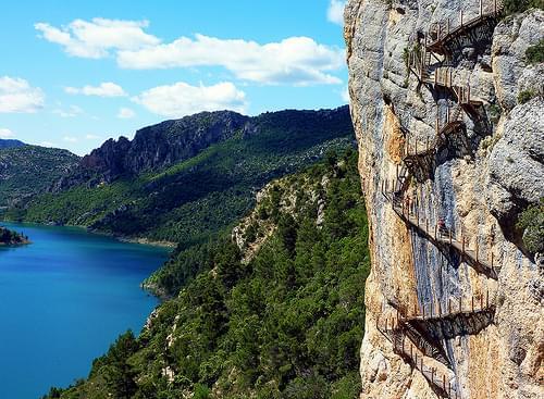Congost de Mont Rebei, escaliers des gorges de seguer