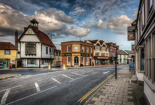 217/365v2 Dunmow High Street and the old Town Hall