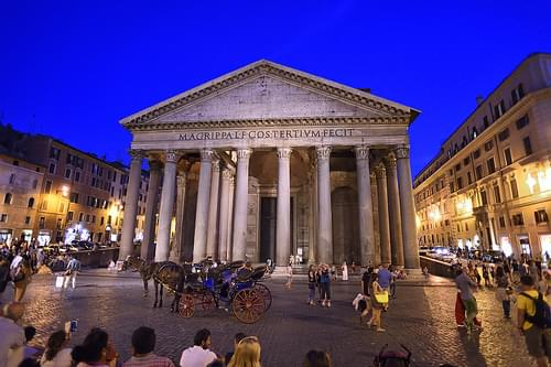 Tonight at the Pantheon in Rome