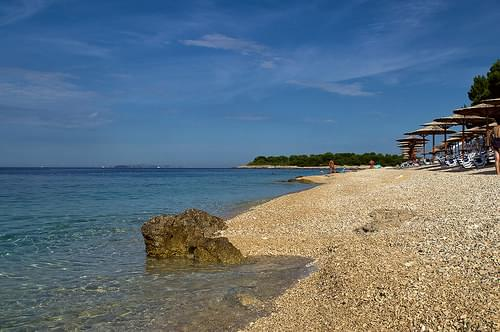 Primosten town beach, Croatia