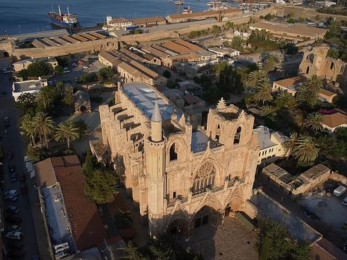 Ammochostos (Famagusta), Cathedral of St Nicholas - Lala Mustafa Pasha Mosque). Cyprus. 2013
