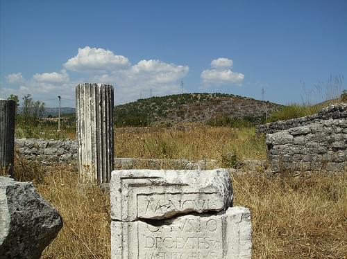 A detail from Duklja (roman Doclea) near Podgorica in Montenegro