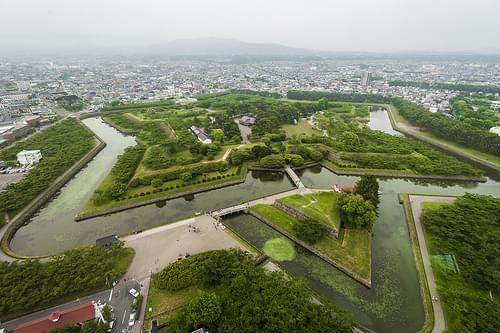五稜郭 ごりょうかく Goryokaku Hakodate Hokkaido Japan
