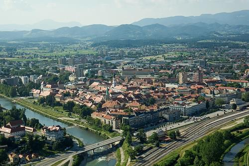 Celje from the castle