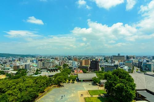 Panoramic View of  Kumamoto City