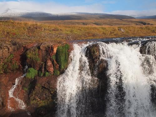 Waterfalls at Kolugljúfur in Iceland