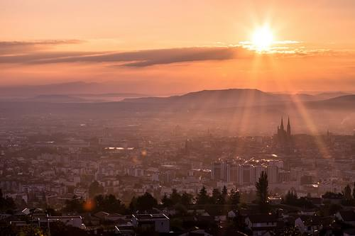 Clermont-Ferrand sunrise
