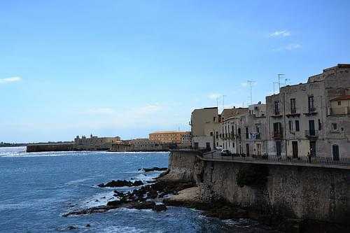 Syracuse, sur l'île d'Ortygie, Sicile -   Ortigia, Siracusa, Sicilia