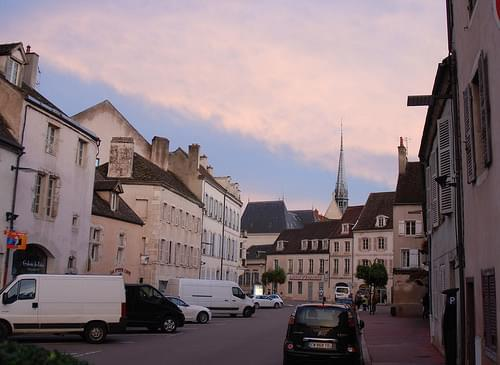 Beaune at dusk, Côte d'Or, Bourgogne, France.