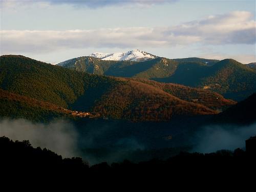 1- Le Mont Liron, appelé Fageas (1185 m) sous la neige (Cévennes Mont Aigoual)