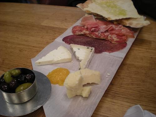 Meat and cheese plate at MoMA Cafe 2