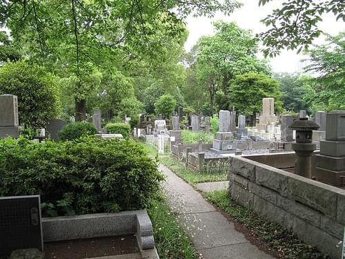 Aoyama cemetery Tokyo Japan