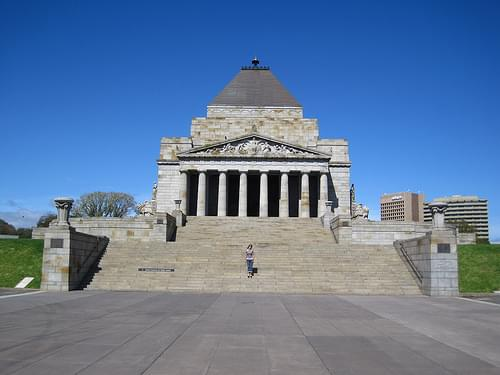 Melbourne: The Shrine of Remembrance