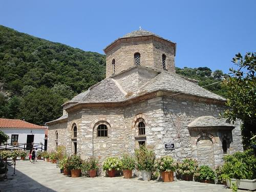 The church at the Monastery of Evangelistria