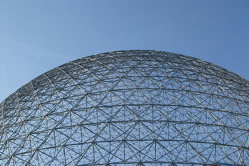 Detail of the geodesic dome structure of the Montreal Biosphere